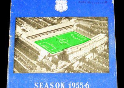 Everton FC v West Bromwich 31.08.1955