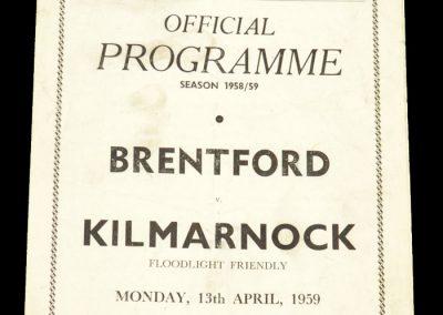 Brentford v Kilmarnock 13.04.1959