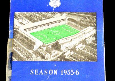 Everton v Spurs 17.09.1955