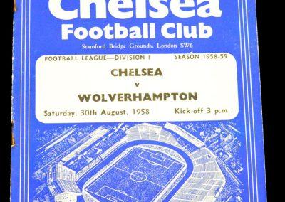 Wolverhampton Wanderers v Chelsea 30.08.1958