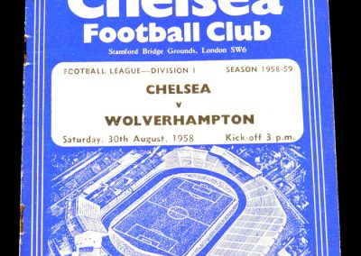 Chelsea v Wolverhampton Wanderers 30.08.1958