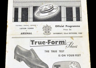 Luton Town FC v Arsenal 22.10.1955