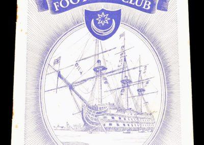 Portsmouth FC v Tottenham Hotspur 29.10.1955