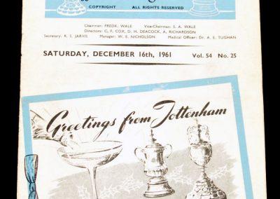 Tottenham Hotspur v Blackpool 16.12.1961