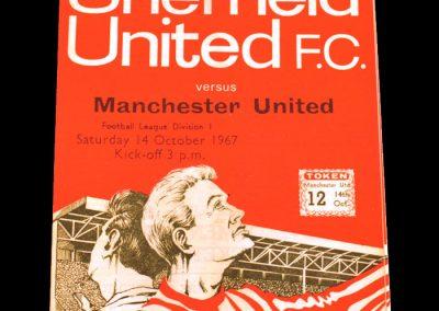 Sheffield United v Manchester United 14.10.1967