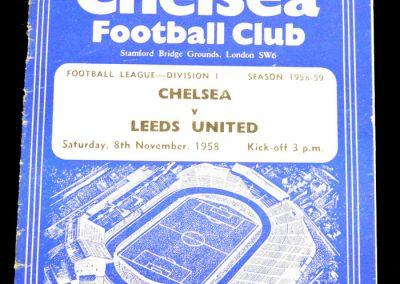 Leeds United v Chelsea 08.11.1958