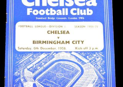 Birmingham City v Chelsea 06.12.1958