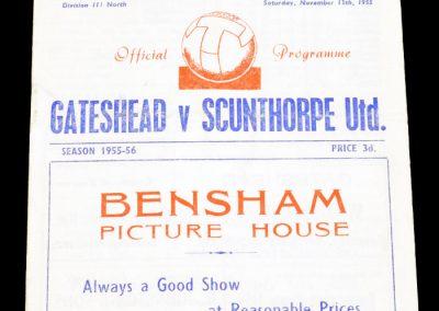 Gateshead v Scunthorpe United 12.11.1955