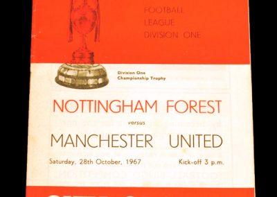 Nottingham Forest v Manchester United 28.10.1967