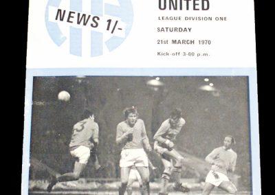 Man City v West Ham 21.03.1970