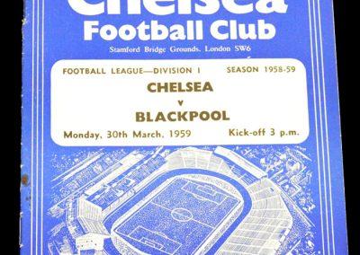Blackpool v Chelsea 30.03.1959