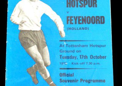 Tottenham Hotspur v Feyenoord (Holland) 17.10.1972