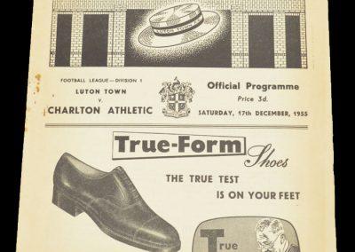 Luton Town FC v Charlton Athletic 17.12.1955