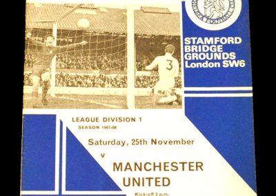 Chelsea FC v Manchester United 25.11.1967