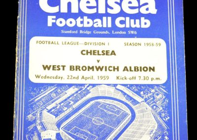West Bromwich Albion v Chelsea 22.04.1959