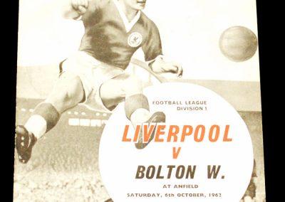 Liverpool v Bolton Wanderers 06.10.1962