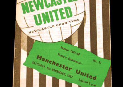 Newcastle United v Manchester United 09.12.1967