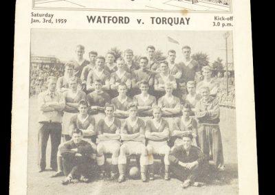 Torquay United v Watford 03.01.1959