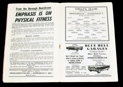 Middlesbrough v Huddersfield Town 25.08.1962