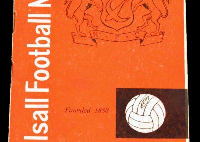 Walsall v Middlesbrough 04.09.1962