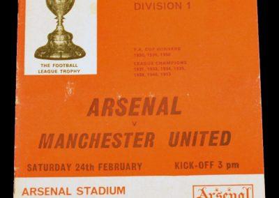Arsenal v Manchester United 24.02.1968