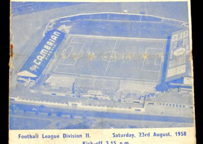 Barnsley v Cardiff City 23.08.1958