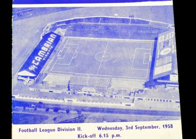 Huddersfield Town v Cardiff City 03.09.1958