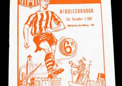 Southampton v Middlesbrough 03.11.1962