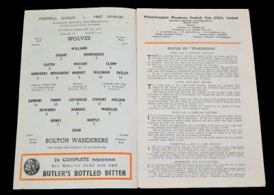 Wolverhampton Wanderers v Bolton Wanderers 11.02.1956