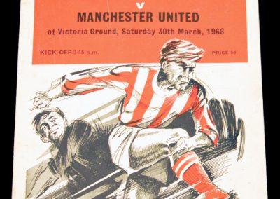Stoke City v Manchester United 30.03.1968