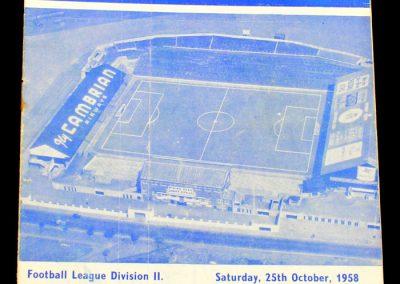 Stoke City v Cardiff City 25.10.1958