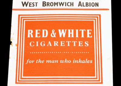 Charlton Athletic v West Bromwich Albion 11.02.1956