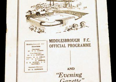 Bristol City v Middlesbrough FC 11.02.1956