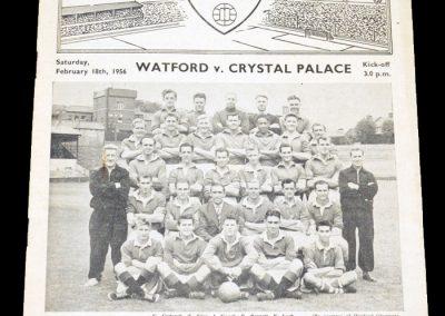 Watford v Crystal Palace 18.02.1956