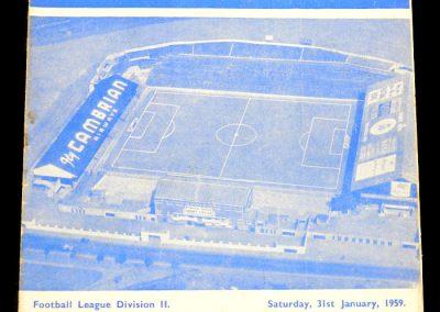 Cardiff City v Brighton and Hove Albion 31.01.1959