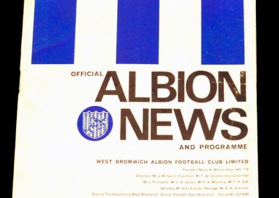 West Bromwich Albion v Manchester United 29.04.1968