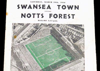 Swansea v Notts Forest 10.03.1956