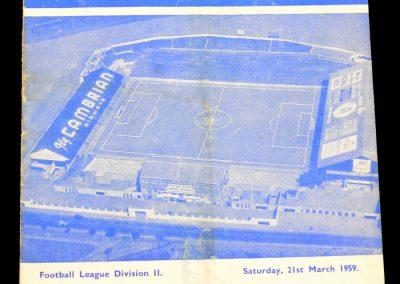 Cardiff City v Derby County 21.03.1959