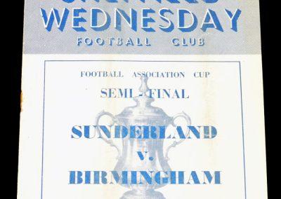 Sunderland v Birmingham 17.03.1956   FA Cup Semi Final