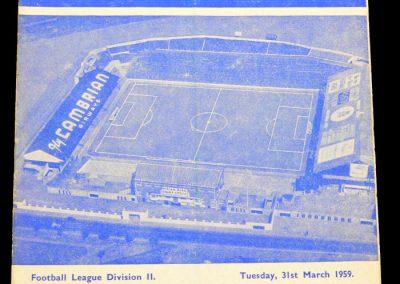 Cardiff City v Charlton Athletic 31.03.1959