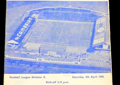 Fulham v Cardiff City 04.04.1959