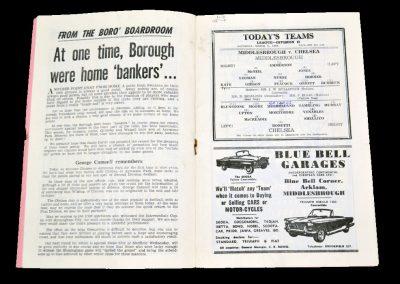 Middlesbrough v Chelsea 09.03.1963