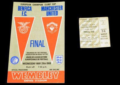 Benfica FC v Manchester United 29.05.1968 | Euro Champions Cup Final