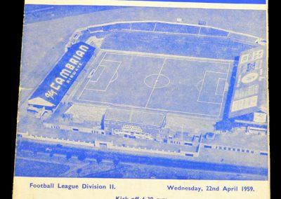 Sunderland v Cardiff City 22.04.1959