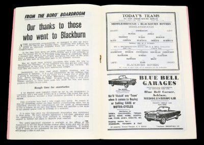 Middlesbrough v Blackburn Rovers 11.03.1963