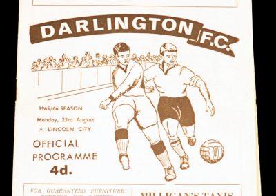 Darlington FC v Lincoln 23.08.1965