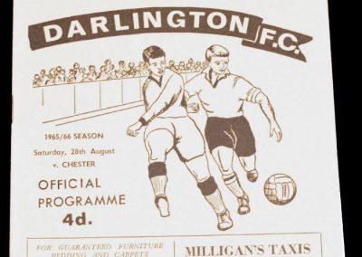 Darlington FC v Chester 28.08.1965
