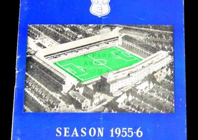 Everton FC v Sheffield United 30.03.1956