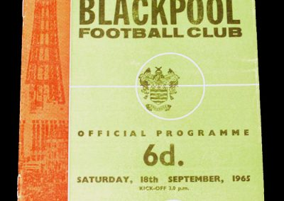 Blackpool FC v Sunderland 18.09.1965