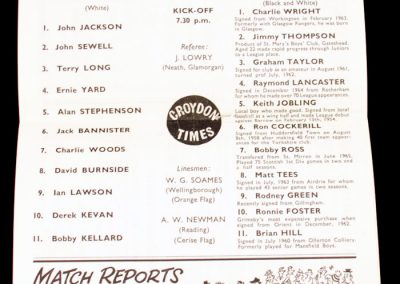 Crystal Palace v Grimsby Town 22.09.1965